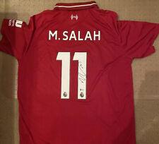 Mo Salah Signed Autographed Jersey Liverpool Beckett Certified COA