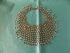 Stunning Art Deco Necklace Choker with Sparkling Stones & Silver Clasp