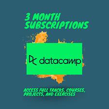 Datacamp 3 Month Premium Subscription! Private Account