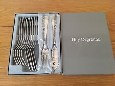 BNIB French Guy Degrenne Stainless Steel Fish Knives and Forks