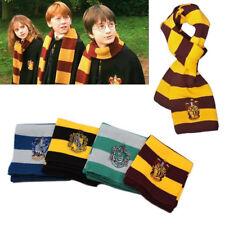 Harry Potter Rayada Punto Bufanda de Gryffindor/Slytherin/Hufflepuff Cosplay