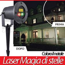 LUCI LASER GIARDINO NATALE VISTO IN TV Starlyf Motion Laser Light telecomando