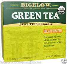 NEW BIGELOW ORGANIC GREEN TEA DECAFFEINATED KOSHER PARVE ALL NATURAL CERTIFIED