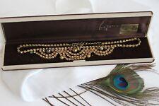 Superbe COLLIER Strass VINTAGE Bijou GL Parure Bal Soirée Vintage Necklace