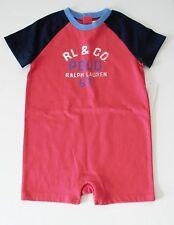 Ralph Lauren Baby Boys Graphic Shortall Sunset Red Sz 18M - NWT