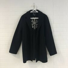 Carol Little 100% Wool Embroidered Jacket size L