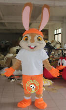 Easter Bunny Mascot Costumes Cartoon Clothing Parade Rabbit Dress Cosplay Outfit