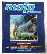 MOTO CYCLISME - N° 24 - 500 TRIUMPH Trophy, 250 Kawasaki, BSA J34, Spécial jeune