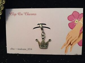 Clip on Charm - Princess Crown - For Link Bracelets and Zippers