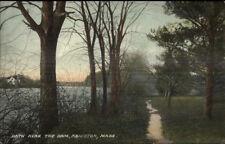 Abington MA Path Near the Dam c1910 Postcard