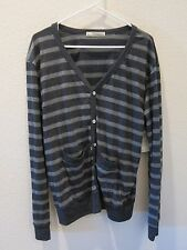 Threads for Thought Striped Cardigan - Womens Large - Black - NWT