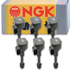 6 pcs NGK Ignition Coil for 2003-2007 Infiniti G35 3.5L V6 - Spark Plug Tune ka