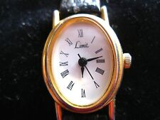 Ladies Limit watch with Black leather strap, Oval Face- new battery