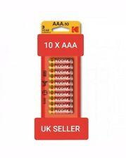 New Genuine Kodak AAA Batteries 10/pk Extra life Zinc EXP 01/2022