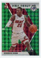 2019-20 KENDRICK NUNN PANINI MOSAIC NBA DEBUT GREEN ROOKIE RC #268