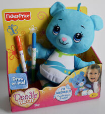 FISHER-PRICE DOODLE BEAR SKY (3+ YEARS) DOODLE & TRACE & STAMP WASHABLE *NEW*