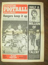 INSIDE FOOTBALL AND STRIKER MAGAZINE JANUARY 19th 1974 QPR RANGERS KEEP IT UP