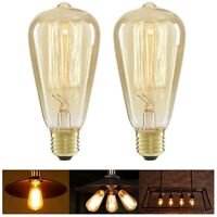 40W Warm Vintage Filament Dimmable E27 Edison Screw Bulb Incandescent Lamp Bulbs