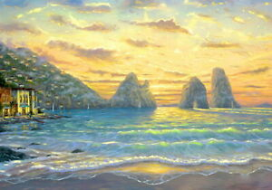 Large Paint By Numbers Kit 50*40cm 8180 Fun Art Decor Sea View OZ