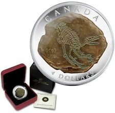 Canada 2010 Dromaeosaurus Raptor Silver Proof  99.99% Silver 'Limited Edition'