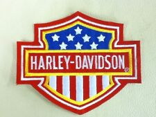 VINTAGE OFFICIALLY LICENSED HARLEY DAVIDSON RED WHITE & BLUE B&S PATCH