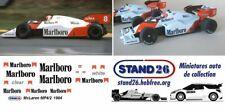 Decals Marlboro McLaren MP4/2 Lauda / Prost 1984 1/43e pour Spark