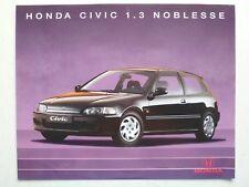 Prospetto HONDA CIVIC 1.3 NOBLESSE, 8.1994, 2 pagine, 30x24 cm grande