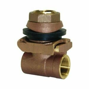 """ProPlumber WELL 1"""" Pitless BRASS Adapter 4 1/2"""" to 8"""" casing ID 125442 PPPA100NL"""
