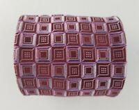 Paul Fredrick Mens Tie Red Pink Geometric Silk Neck Tie  W4'' L58''