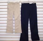 Girls IZOD Khaki or Navy Stretch Skinny Bootcut Uniform Pants Reg, Slim,  Plus