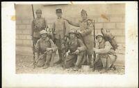 WW1 PLATOON FULLY EQUIPED FRENCH ARMY RIFLE GEAR WAR PHOTO RPPC PC POSTCARD