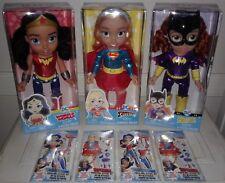 NEW DC Superhero Toddler Dolls Wonder Woman, Batgirl & Supergirl w/Paper Dolls