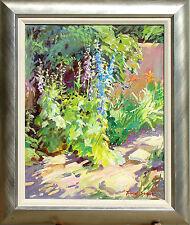 Teresa Swayne Untitled Original Oil Painting on Canvas floral landscape OBO