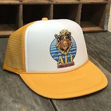 Alf Alien Life Form Trucker Hat Vintage 80s Mesh Snapback Cap No Problem Yellow