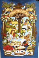 Vintage Welsh CREAM TEAS of WALES Pastries Scones Tea Garden Granny TEA TOWEL