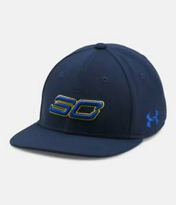 New Under Armour Boy's Cap SC30 Core Stephen Curry UA Basketball Navy Youth OSFM