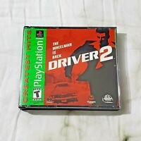 Driver 2 (Sony PlayStation 1, 2000, Greatest Hits) PS1 NO MANUAL & TESTED