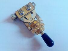 Genuine Epiphone 3 Way Toggle Switch GOLD & Black Tip for Gibson Import Guitar