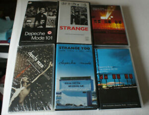 DEPECHE MODE 6 X VHS VIDEO LOT SAMMLUNG 81 85 86 98 STRANGE TOO 101 PARIS DM