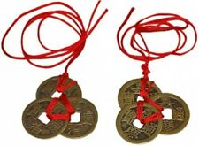 Chinese Feng Shui Coins Lucky Fortune Wealth & Success Good Luck Charm Set 2 6Pc