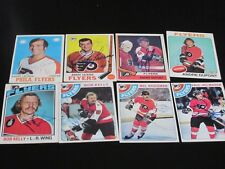 LOT OF 8 DIFFERENT AUTOGRAPHED VINTAGE 1970'S PHILADELPHIA FLYERS HOCKEY CARDS
