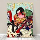 """Vintage Japanese Kabuki Woodblock Art CANVAS PRINT 8x12"""" Kunisada #245"""