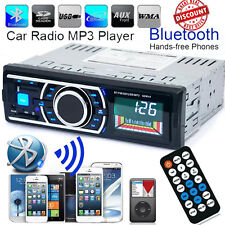Bluetooth Car Stereo Player Audio In-Dash FM Aux Input Receiver SD USB MP3 Radio