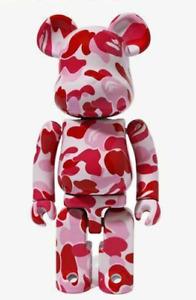 ABC CAMO BE@RBRICK CHOGOKIN 200% Pink Bearbrick IN HAND