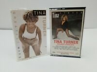 Tina Turner Cassette Tapes Lot of 2 Private Dancer Greatest Hits What's Love Got