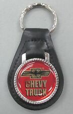 Chevrolet CHEVY TRUCK Black Leather Silver Keyring 1966 1967 1968 1969 1970 1971