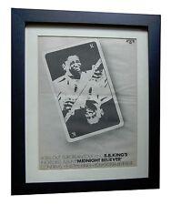 B B KING+Midnight Believer+POSTER+AD+RARE ORIGINAL 1978+FRAMED+FAST GLOBAL SHIP