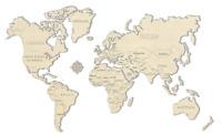 WOODEN CITY® Weltkarte L, 3D Holzmodell, 3D Holzpuzzle, World Map L