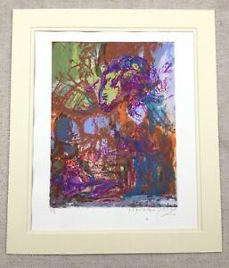 The Sacrifice of Isaac Silkscreen Print Signed Contemporary Jewish Art Judaica