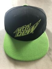 Mountain Dew SnapBack Hat Black Pugs New Adult One Size Adjustable Polyester Cap
